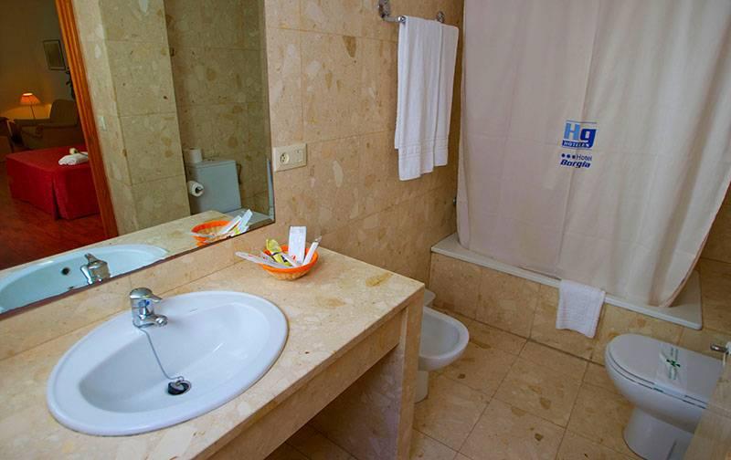 Casa de banho Hotel Borgia Gandia