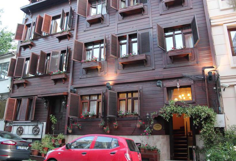 Outside Hotel Asmali Istanbul