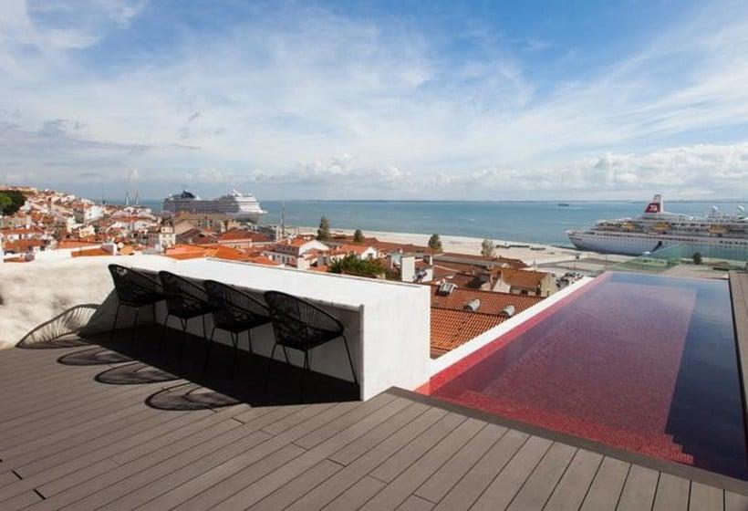 Terrasse Hôtel Memmo Alfama Lisbonne