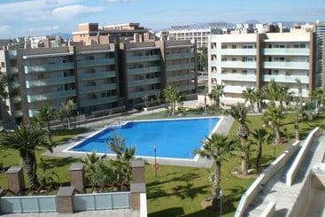 Zonas comuns Apartamentos Ibersol Spa Aqquaria Salou
