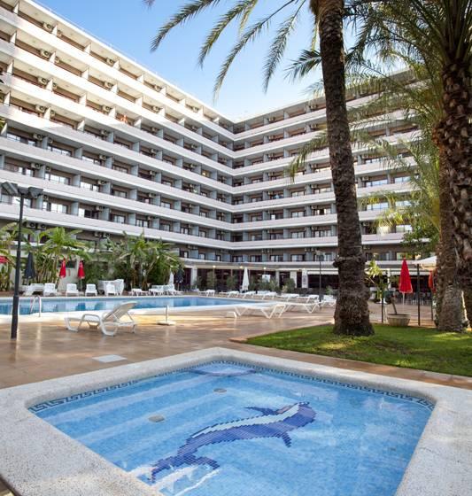 Aussenbereich Hotel Benilux Park Benidorm
