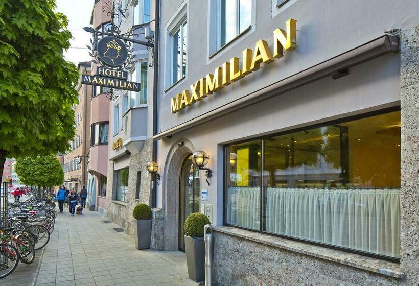 Outside Hotel Maximilian Innsbruck