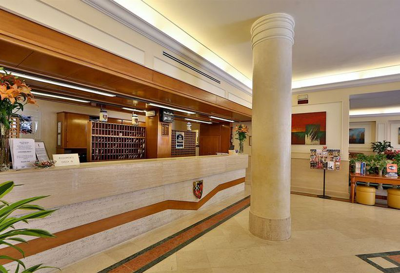 Rezeption Best Western Grand Hotel Adriatico Florenz