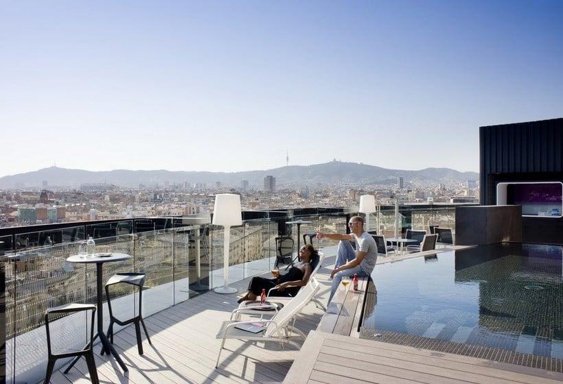 Schwimmbad Hotel Barceló Raval Barcelona