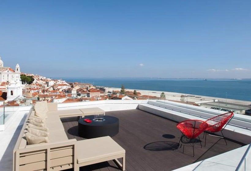 Terraza Hotel Memmo Alfama Lisboa