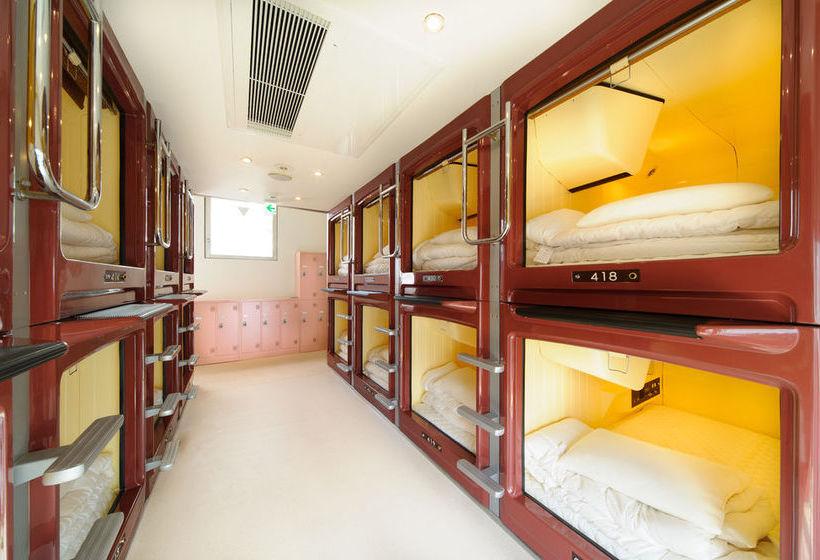 H tel capsule oak hostel cabin tokyo les meilleures for Cabin hotel tokyo
